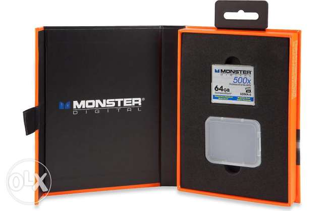 Monster Digital Compact Flash Memory Card 500X speed, 64GB capacity وسط القاهرة -  1