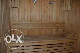 Sauna with Heater Made in GERMANY for Sale , Like New 2*2M with Expand