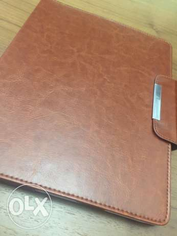 Leather iPad Case With Business Cards holder - Brown
