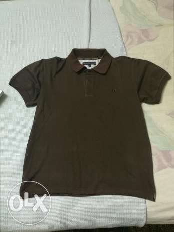 New brown medium Polo T-shirt تي شيرت بولو بني M