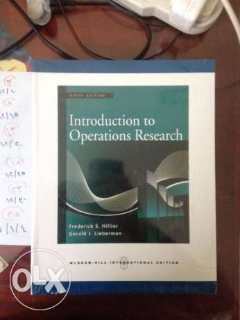 books of (introduction for operations research)