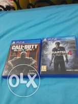 Call of duty black ops 3 and uncharted 4 ps4