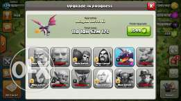 Clash of clan account th 10 max