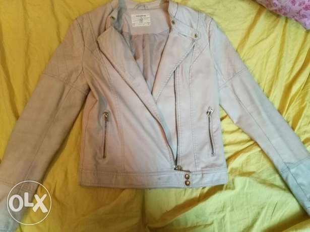 Pull&Bear beige leather jacket