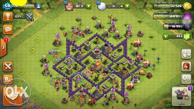 Clash of clans دار السلام -  1