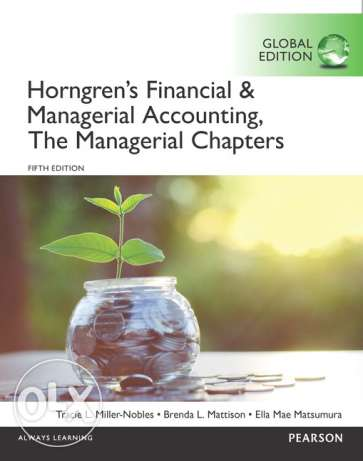 Horngren's Financial & Managerial Accounting Book (Global Edition)