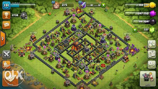 قرية كلاش ماكس عشرة clash of clans max 10