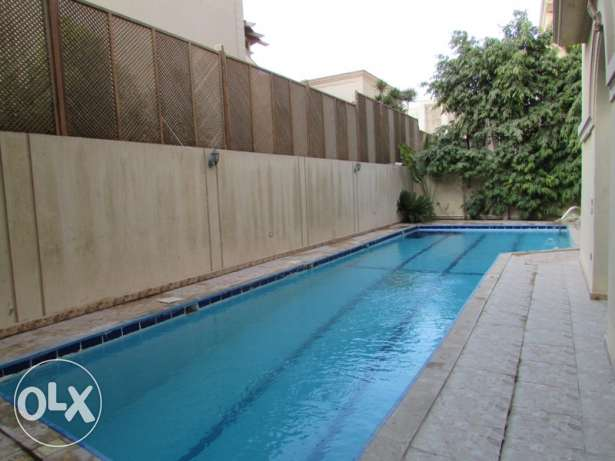 Ground Apartment for rent in Villa in New Cairo With Pool and Garden