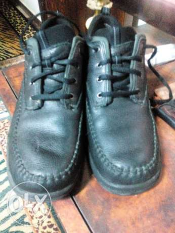 Clarks shoes, genuin leather Size 11 Black حذاء كلاركس أصليه 44