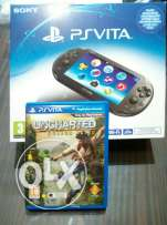 PSP vita 2016 + Game ( Uncharted Golden abyss )