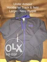 Under Armour- Hoodie Navy/Purple Large
