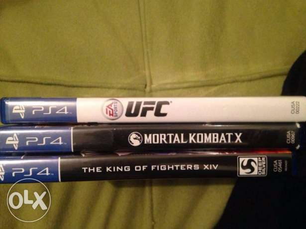 The king of fighter, Mortal Kombat X, UFC for sale used perfect condit التجمع الخامس -  4