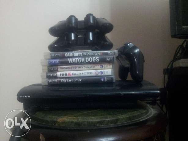 Ps3 12gb with 5 games/3 controllers please contact with phone/wahts ap