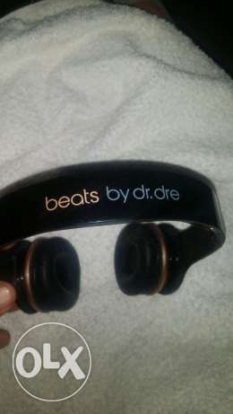 Dr Dre Beats Solo On Ear Remote Talk HD Headphones - Black/Gold