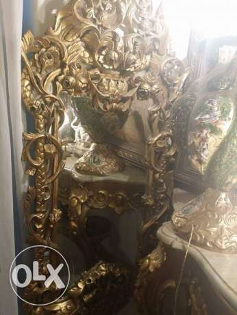 old fabulaus mirror very fine oiyma full of details 135 x 65 for 1850 مدينة نصر -  7
