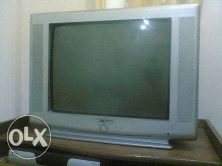 National TV 21 inch Flat screen with remote تيلفزيون ناشونال ٢١ بوصة