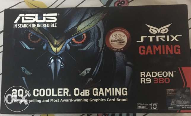 Amd radeon asus STRIX R9 380 4gb ddr5