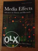 Media Effects, Advances in theory and research