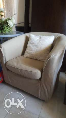 Rotation fauteuil chair with coverفوتيه دوار امريكي بالكسوه