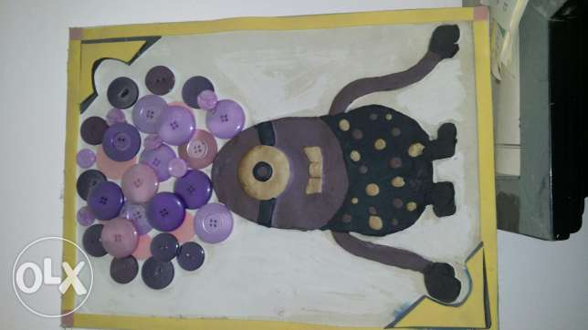 Purple minions made of clay