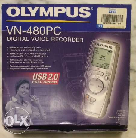 Olympus VN-480PC - Digital voice recorder - flash 64 MB مسجل صوتي صغير