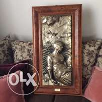 Golden plated carving made in Italy
