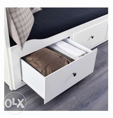 Day-bed frame with 3 drawers, white, 80x200 cm الغردقة -  4