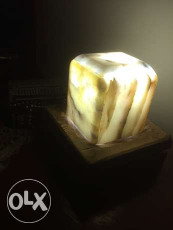 candle hand med alabaster natur from Italy