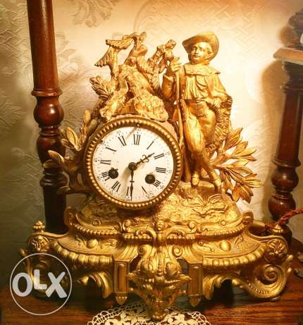 Antique french spelter clock