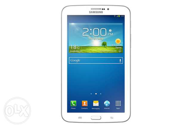 samsung tab 3 with orginal charger and hand free
