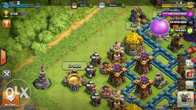 مجوهارات ودهب clash of clans