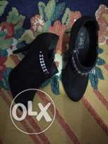 High heels black size 40