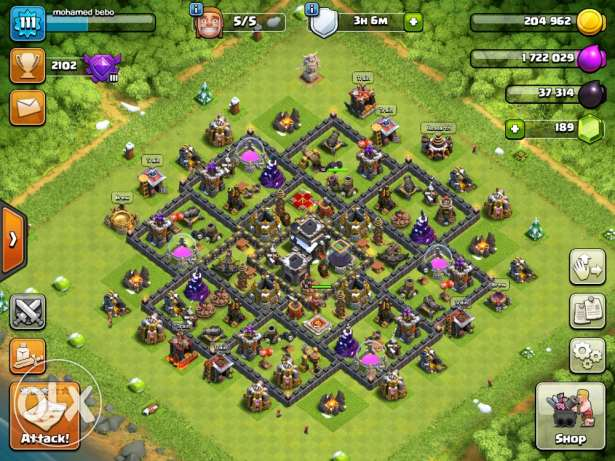 Clash of clans Th9 forsale