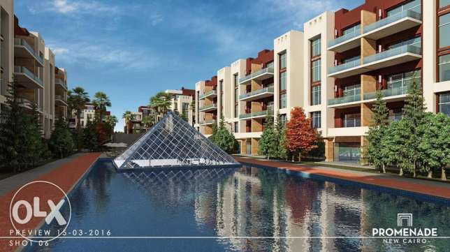 promenade new cairo ( 225m fully finished with central A.C )
