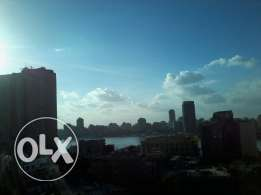 Nile view 2 bedrooms app furnished at zamalek