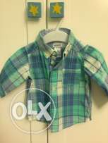 carters baby boy chemise from 3 to 6 months not used