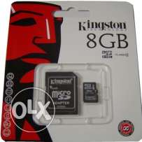 كارت ميمورى كينجستون 8جيجا متبرشم Memory card Kingston