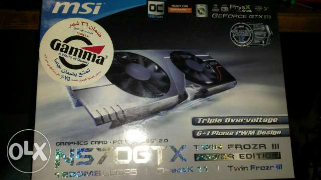 Msi gtx 570 twinfrozer 1280mb ddr5 new