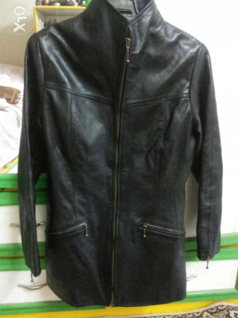 Natural leather black jacket