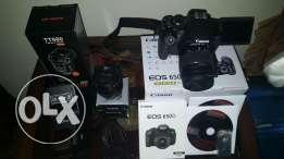 Canon 650d with 2 lenses and flash excellent condition