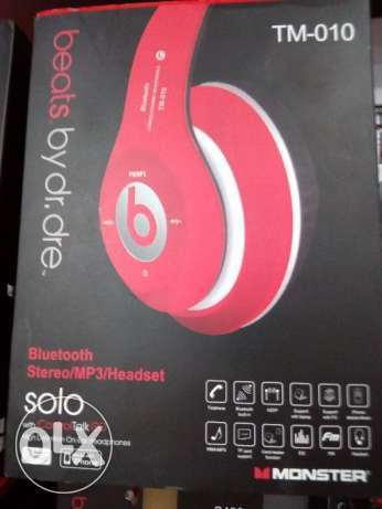 beats stereo headphone TM-010 Red / black / blue