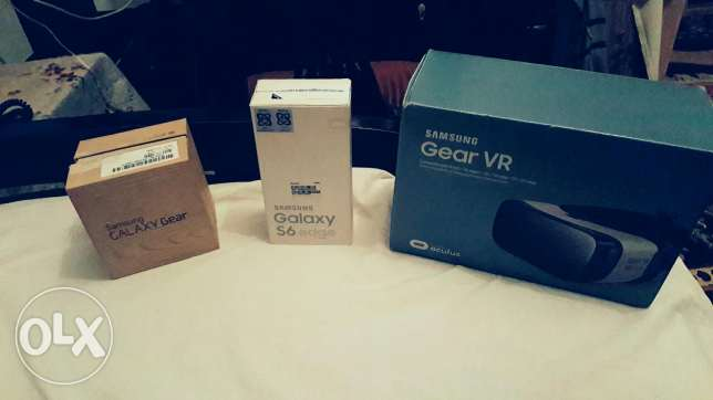 S6 edge 128G gold and VR gear samsung and Samsung Galaxy Gear