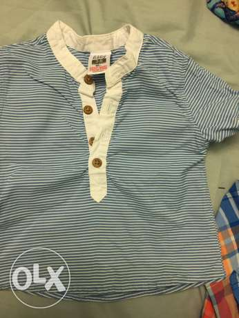 Zara baby boy tshirt from 3 to 6 months used 1 time الشيخ زايد -  1