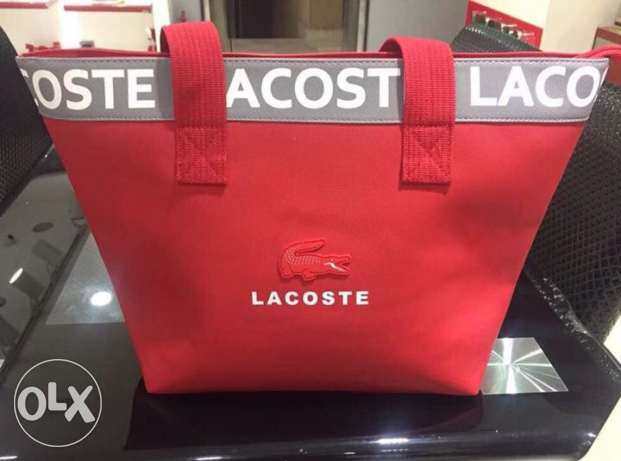 Lecoste Bag Red color saleee on bag 24 hrs only