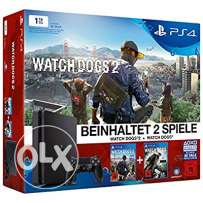 New Ps4 slim 1 tb watchdogs 1+2 bundle