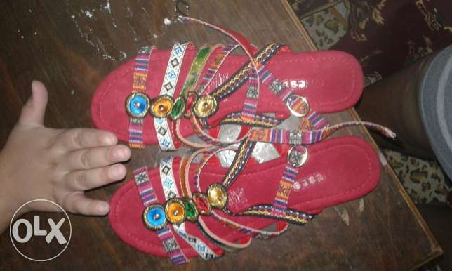 Handmade sandal with the summer colours صندل الصيف