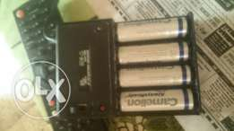 4 AA Chargeable Camelion batteries 2500mAh with charger