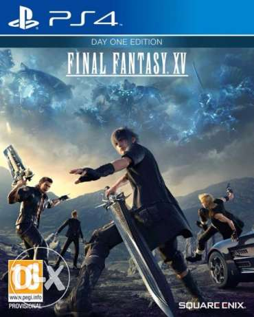 "لعبة Final Fantasy XV Day One Edition لجهاز ال PS4 "" جديدة متبرشمة """