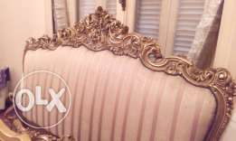French Design Wooden Hand Made Bed (Back,Front,Sides)