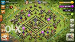 clash of clans account maxed th9